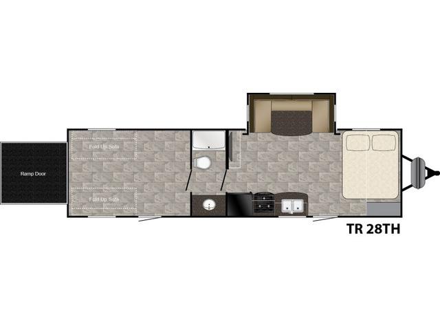 Trail Runner Travel Trailer Model 28TH by Heartland Floorplan