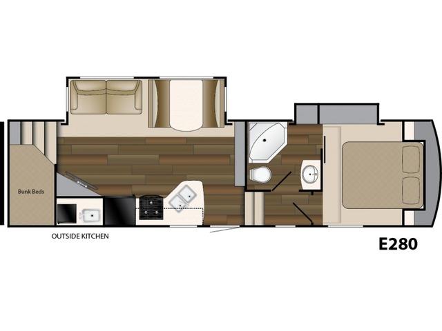 Elkridge Xtreme Light Fifth Wheel Model E280 by Heartland Floorplan
