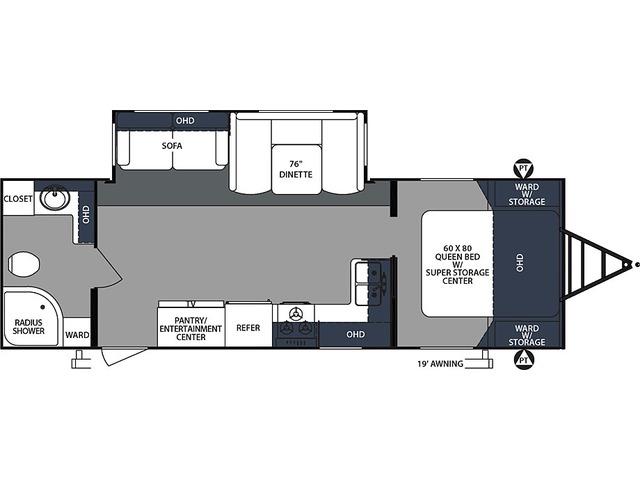 Surveyor Luxury Travel Trailer Model 267RBSS by Forest River Floorplan