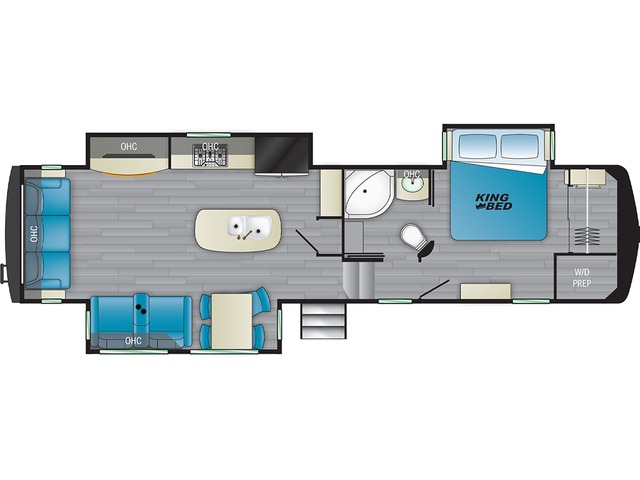 Big Country Fifth Wheel Model 3155RLK by Heartland Floorplan