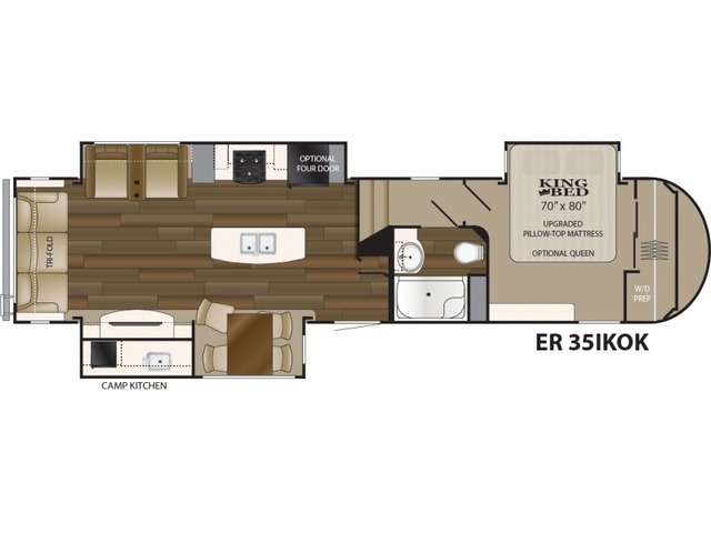 Elkridge Fifth Wheel Model 35IKOK by Heartland Floorplan