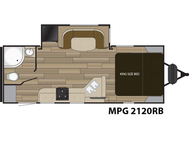 MPG Travel Trailer Model 2120RB by Cruiser RV Floorplan