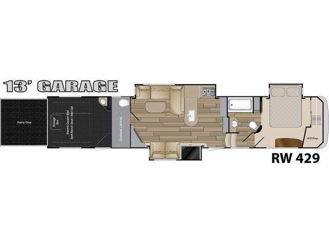 Road Warrior Toy Hauler (Fifth Wheel) Model RW429 by Heartland Floorplan