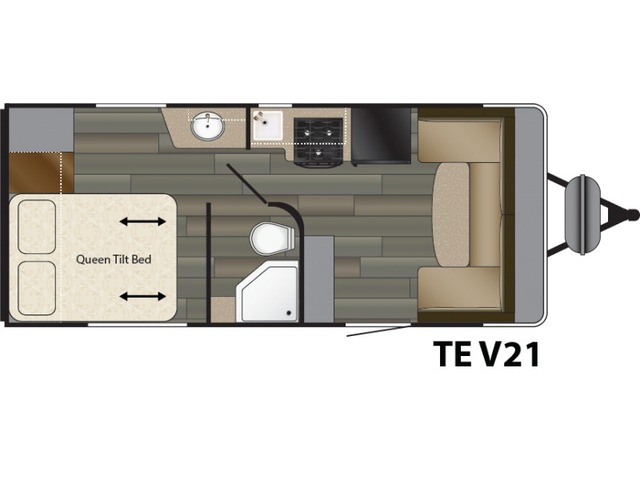 Terry Classic Travel Trailer Model V21 by Heartland Floorplan