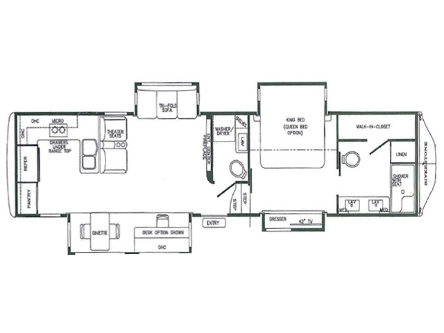 Riverstone Fifth Wheel Model 39RKFB by Forest River Floorplan