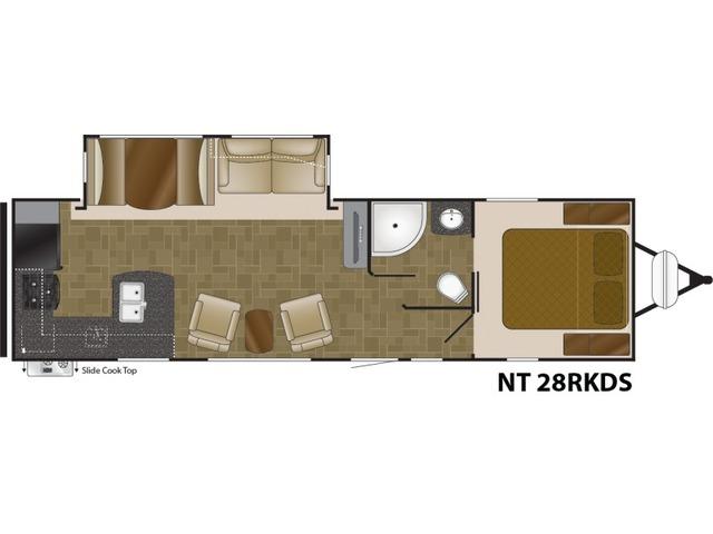 North Trail Travel Trailer Model 28RKDS by Heartland Floorplan