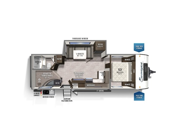 Surveyor Legend Travel Trailer Model 248BHLE by Forest River Floorplan