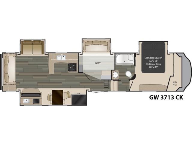 Gateway Fifth Wheel Model 3713CK by Heartland Floorplan