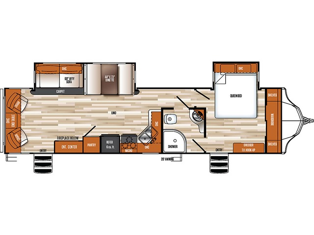 Vibe Travel Trailer Model 278RLS by Forest River Floorplan