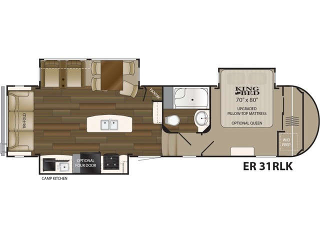 Elkridge Fifth Wheel Model 31RLK by Heartland Floorplan
