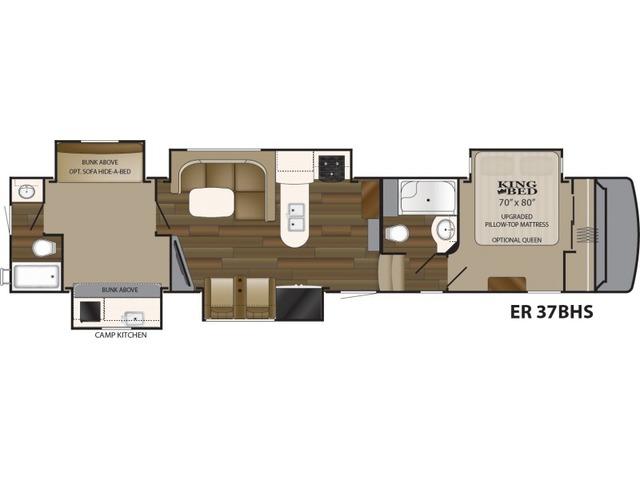 Elkridge Fifth Wheel Model 37BHS by Heartland Floorplan