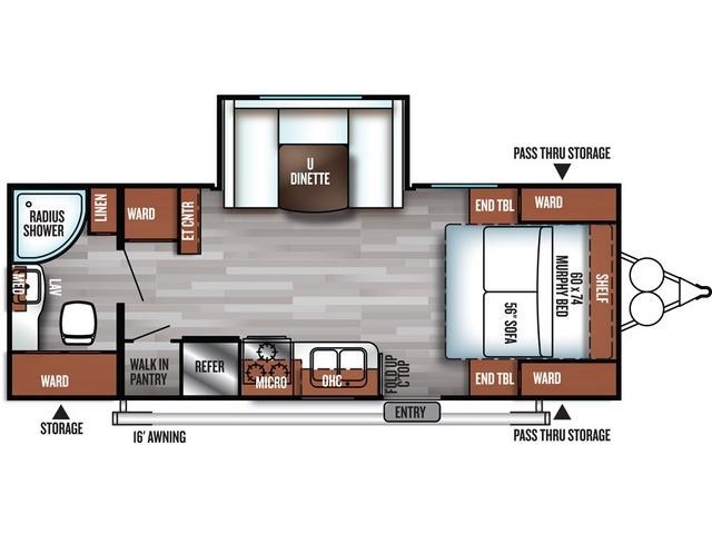 Cruise Lite Travel Trailer Model 233RB by Forest River Floorplan