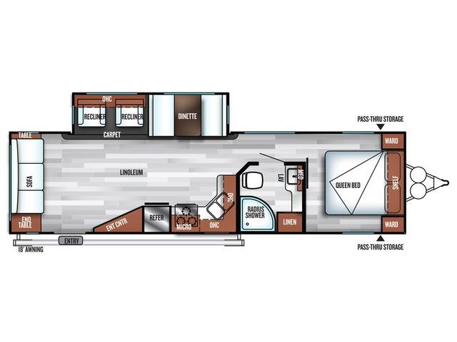 Salem Travel Trailer Model 28RLSS by Forest River Floorplan
