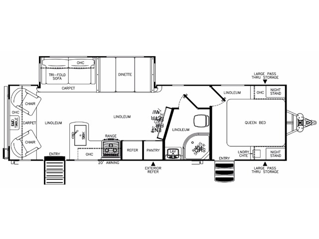 Hemisphere Travel Trailer Model 269RL by Forest River Floorplan