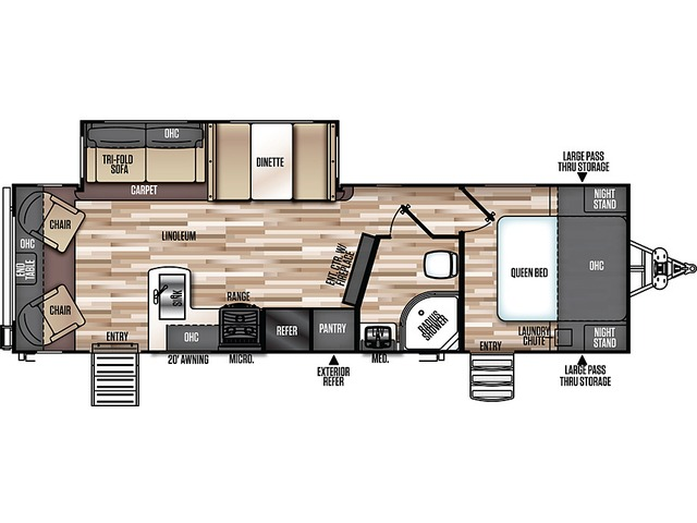 Hemisphere GLX Travel Trailer Model 269RL by Forest River Floorplan