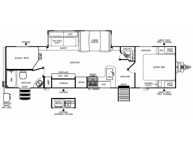 Hemisphere Travel Trailer Model 309BOK by Forest River Floorplan