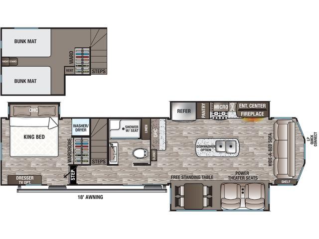 Cottage Park Trailer Model 40CL by Forest River Floorplan