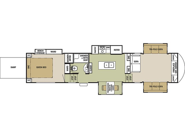 Silverback Fifth Wheel Model 37RTH by Forest River Floorplan