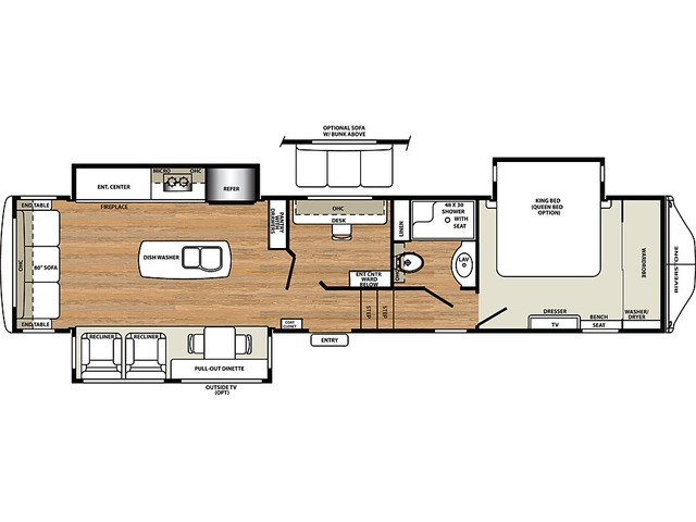 Riverstone Fifth Wheel Model 39MO by Forest River Floorplan