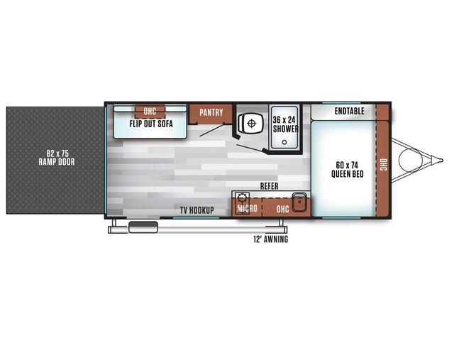 Cruise Lite FSX Travel Trailer Model 180RT by Forest River Floorplan