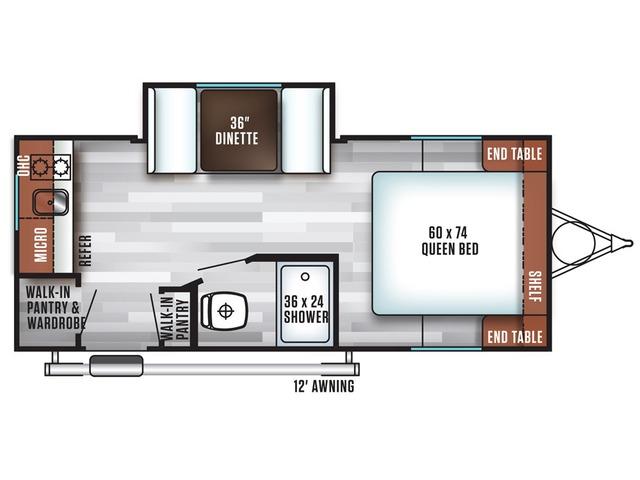 Cruise Lite FSX Travel Trailer Model 200RK by Forest River Floorplan