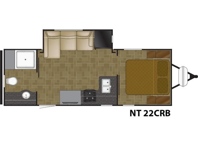 North Trail Travel Trailer Model 22CRB by Heartland Floorplan
