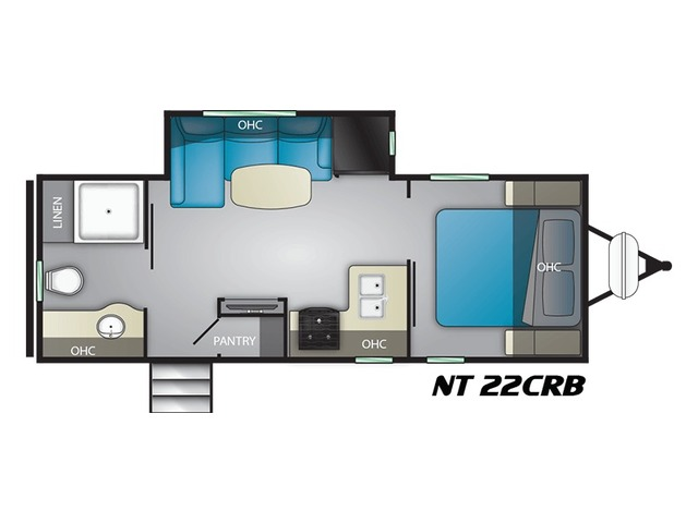 North Trail Travel Trailer Model 22CRB by Heartland Floorplan