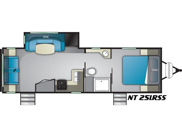 North Trail Travel Trailer Model 25LRSS by Heartland Floorplan
