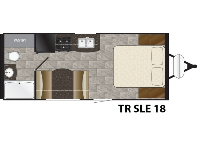 Trail Runner SLE Travel Trailer Model 18SLE by Heartland Floorplan