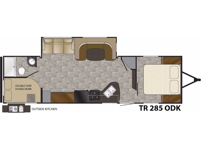 Trail Runner Travel Trailer Model 2850ODK by Heartland Floorplan