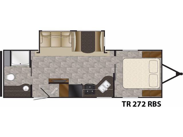 Trail Runner Travel Trailer Model 272RBS by Heartland Floorplan