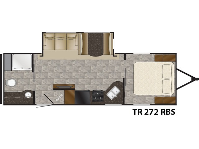 Trail Runner Travel Trailer Model 272RBS by Heartland Floorplan