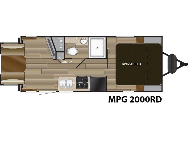 MPG Travel Trailer Model 2000RD by Cruiser RV Floorplan
