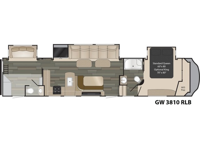 Gateway Fifth Wheel Model 3810RLB by Heartland Floorplan