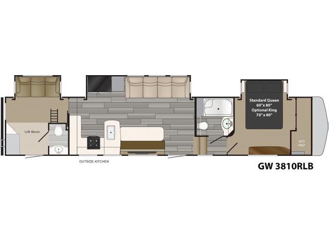 Gateway Fifth Wheel Model 3810RLB by Heartland Floorplan