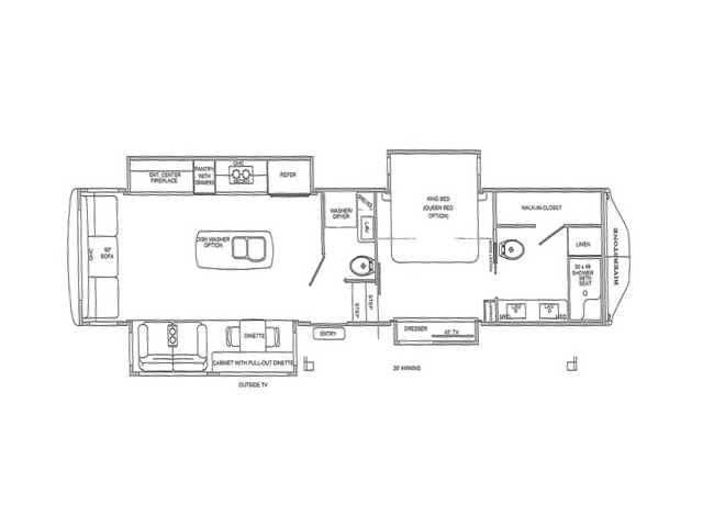 Riverstone Legacy Fifth Wheel Model 38FB2 by Forest River Floorplan