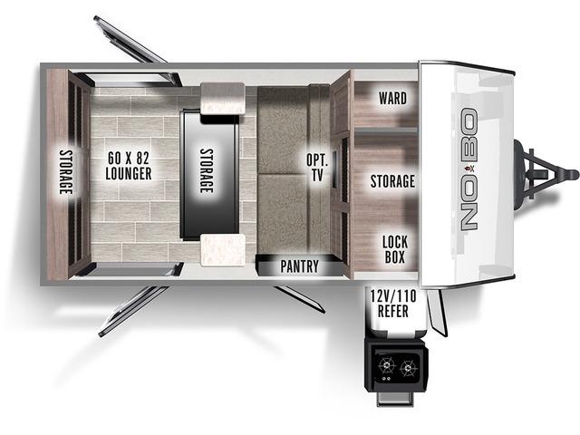 No Boundaries (NOBO) Travel Trailer Model NB10.5 by Forest River Floorplan