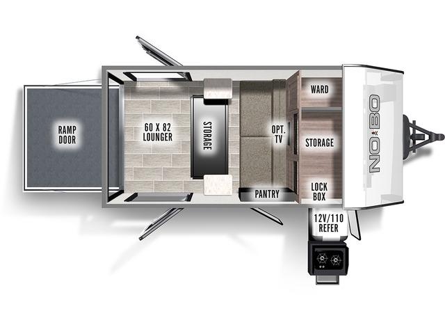 No Boundaries (NOBO) Travel Trailer Model NB10.6 by Forest River Floorplan