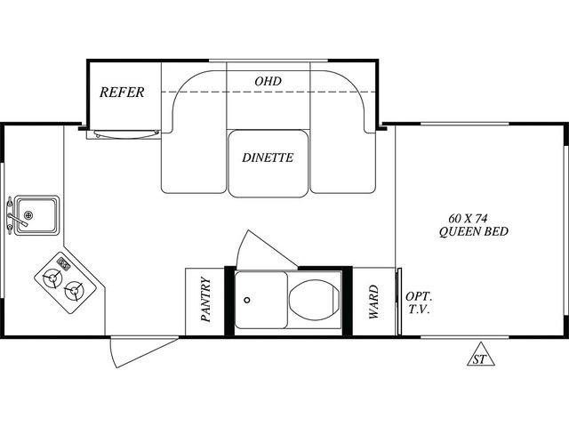No Boundaries (NOBO) Travel Trailer Model NB16.7 by Forest River Floorplan