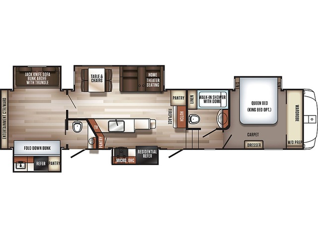 Sabre Fifth Wheel Model 36FRP by Forest River Floorplan