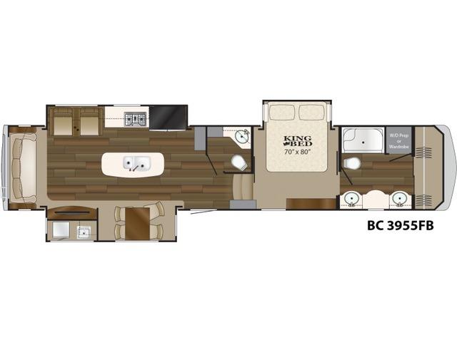 Big Country Fifth Wheel Model 3955FB by Heartland Floorplan
