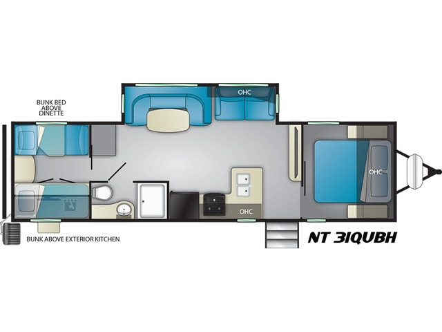 North Trail Travel Trailer Model 31QUBH by Heartland Floorplan