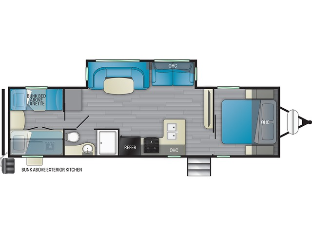 North Trail Travel Trailer Model 31QUBH by Heartland Floorplan