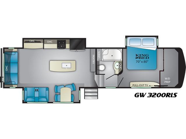 Gateway Fifth Wheel Model 3200RLS by Heartland Floorplan