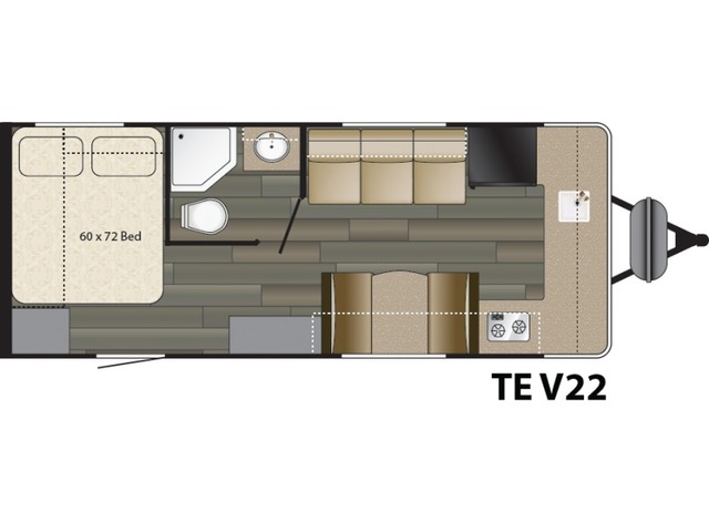 Terry Classic Travel Trailer Model V22 by Heartland Floorplan