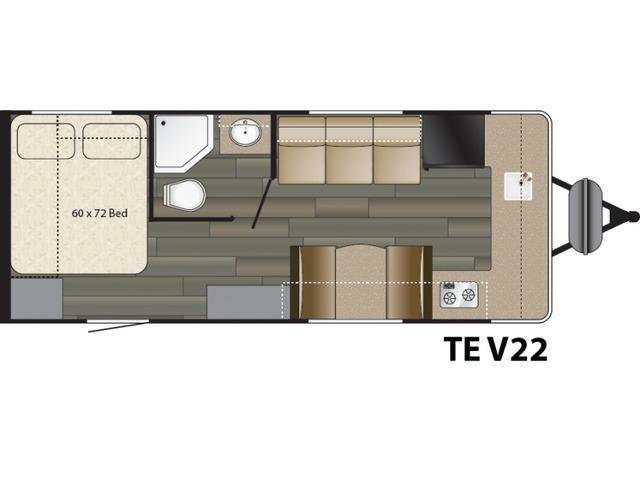 Terry Classic Travel Trailer Model V22 by Heartland Floorplan