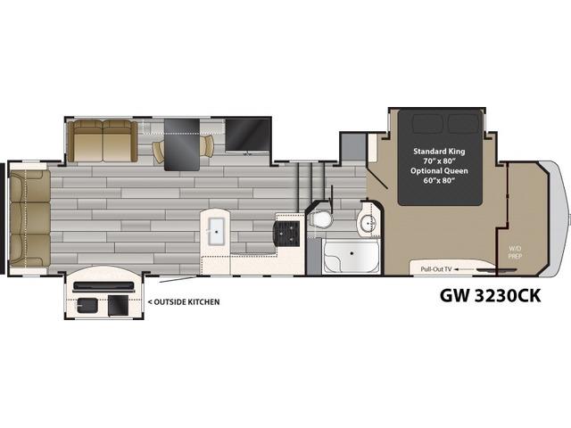 Gateway Fifth Wheel Model 3230CK by Heartland Floorplan