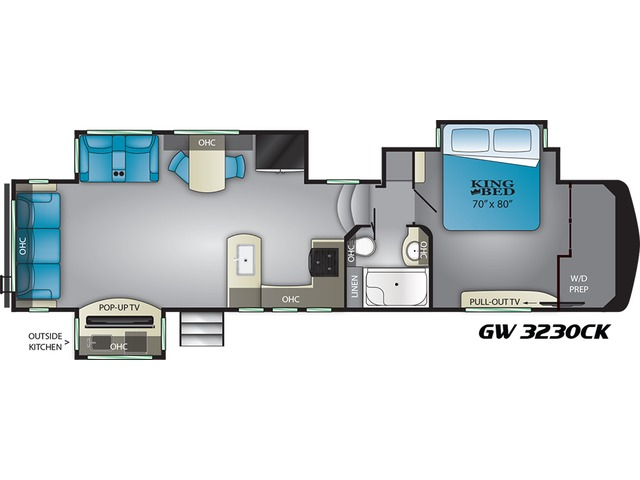 Gateway Fifth Wheel Model 3230CK by Heartland Floorplan