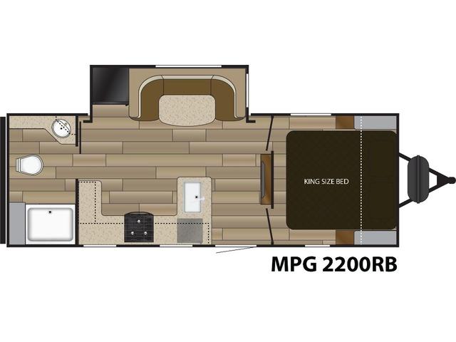 MPG Travel Trailer Model 2200RB by Cruiser RV Floorplan