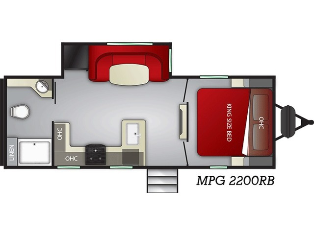 MPG Travel Trailer Model 2200RB by Cruiser RV Floorplan